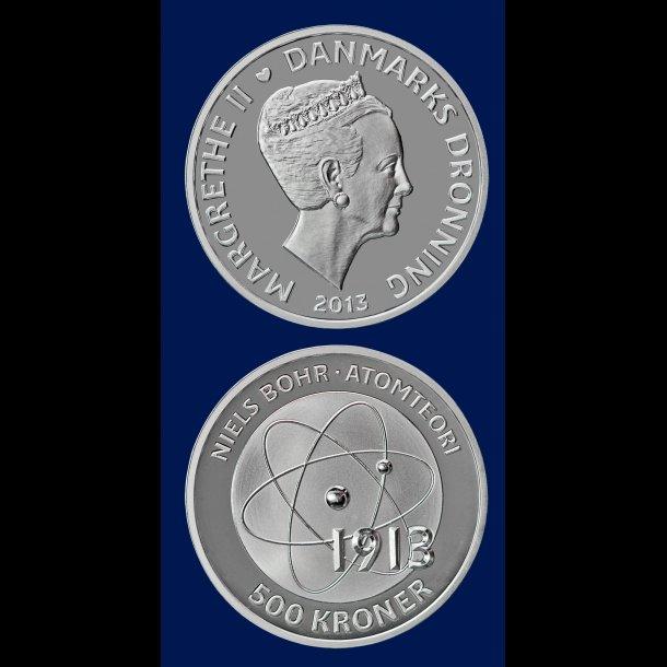 500 kroner, 2013, Niels Bohr (1885-1962), sølv