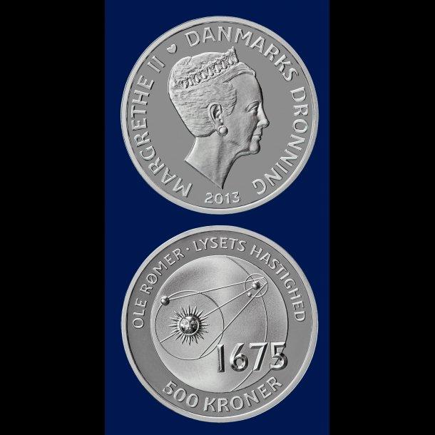 500 kroner, 2013, Ole Rømer (1644-1710), sølv