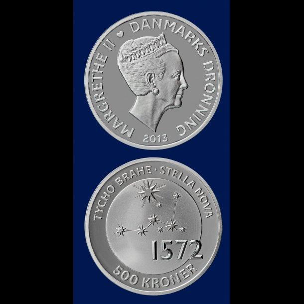 500 kroner, 2013, Tycho Brahe (1546-1601), sølv