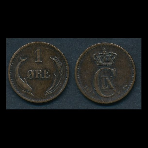 1879, 1 øre, 1+