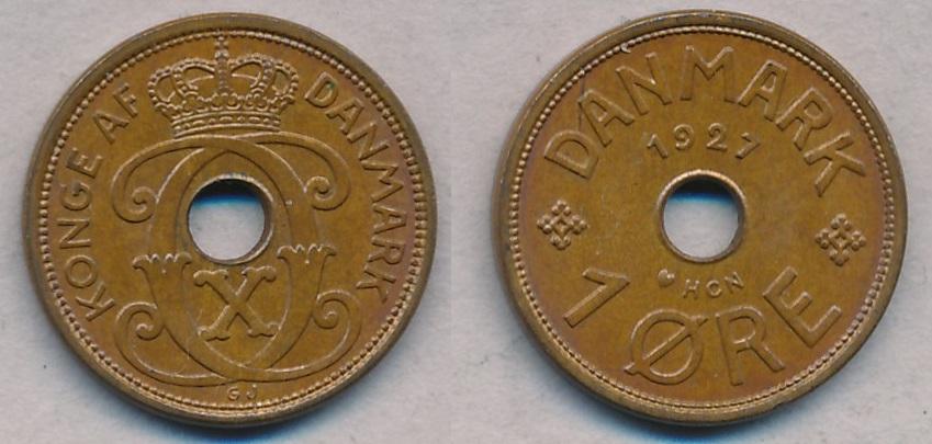 1928, 1 øre, 0 - 1 øre - samlerforum
