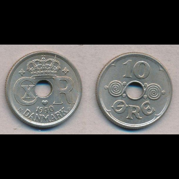 1938, 10 øre, 1+/1