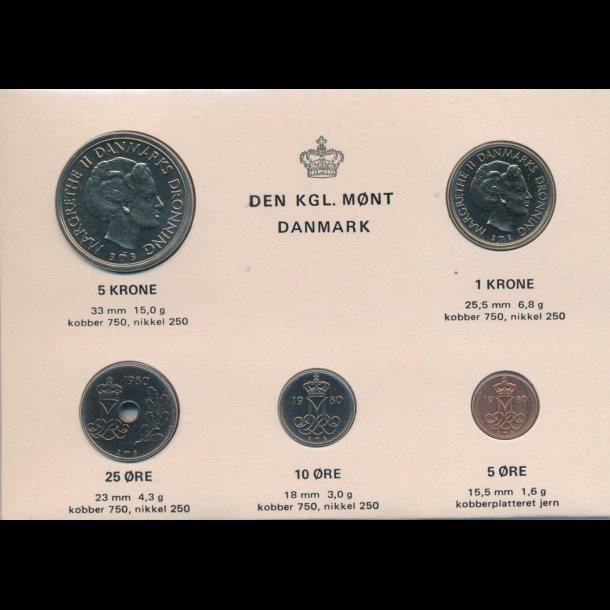 1980, Kgl. møntsæt,