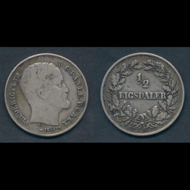 1854, Frederik VII, ½ Rigsdaler, 1