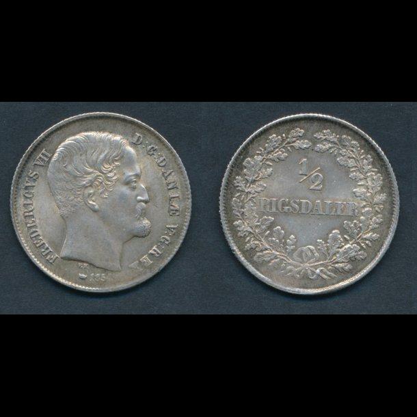 1854, Frederik VII, ½ Rigsdaler, 0