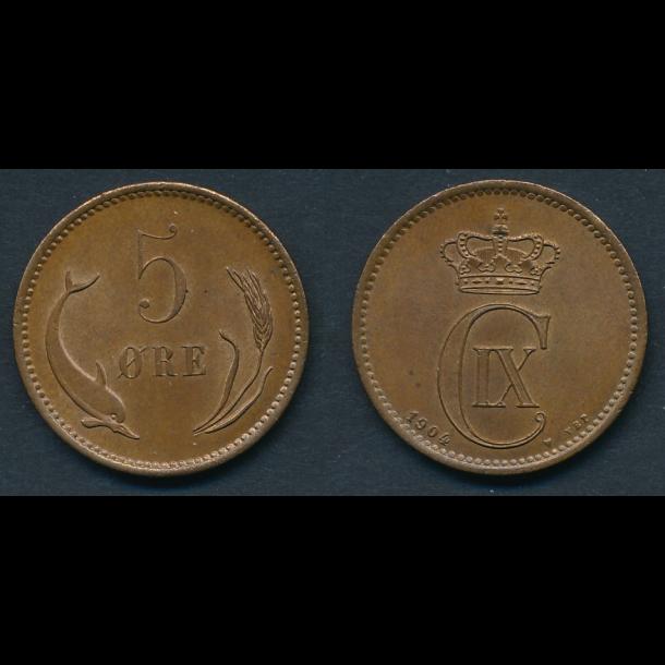 1904, 5 øre,  0