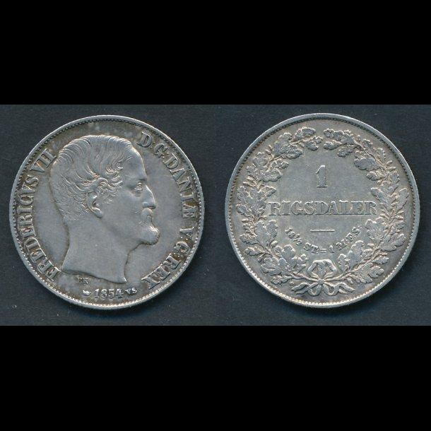 1854, Frederik VII, 1 Rigsdaler, 1+