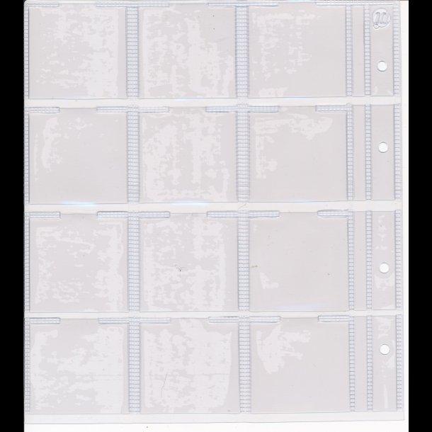 704, Møntholderblad, 12 rum til format 5x5 cm