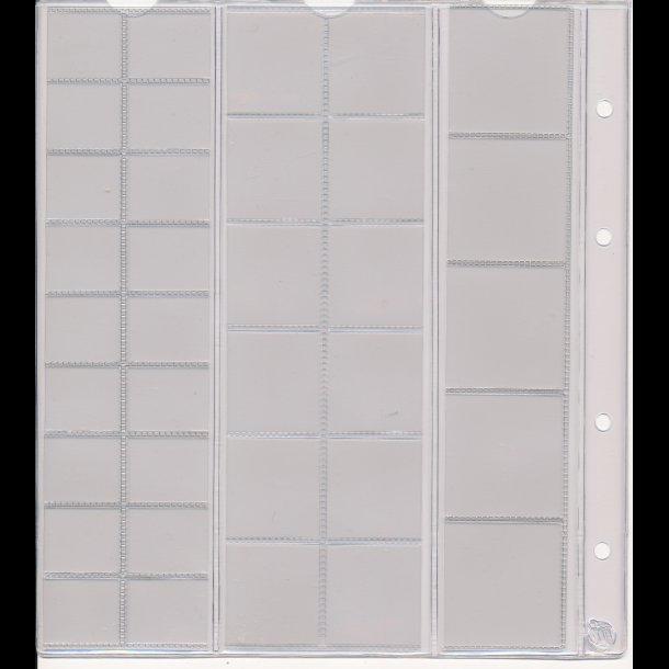 735, Møntblad med karton, 35 rum