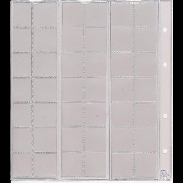742, Møntblad med karton, 42 rum