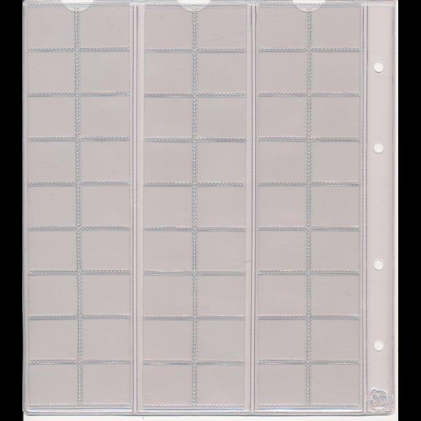 754, Møntblad med karton, 54 rum
