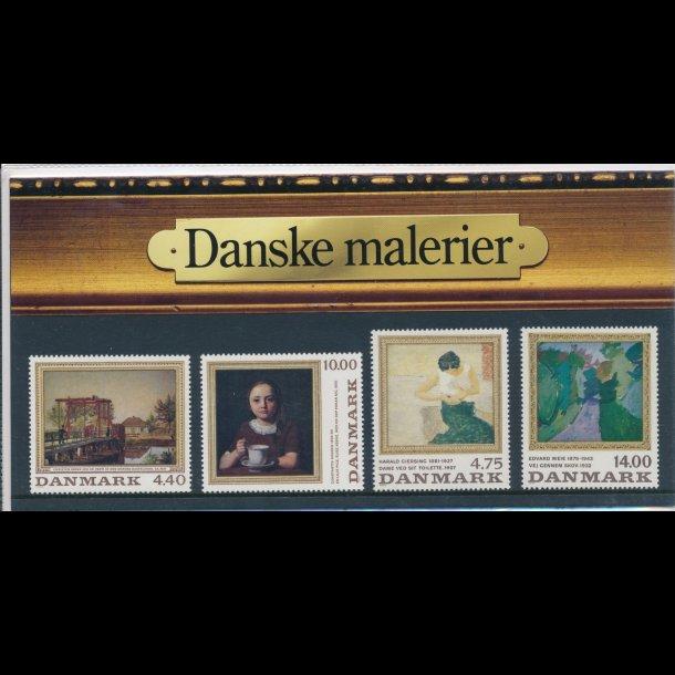 06, Danske malerier, 7.11.1991, AFA nr. 949-50 og 1005-06