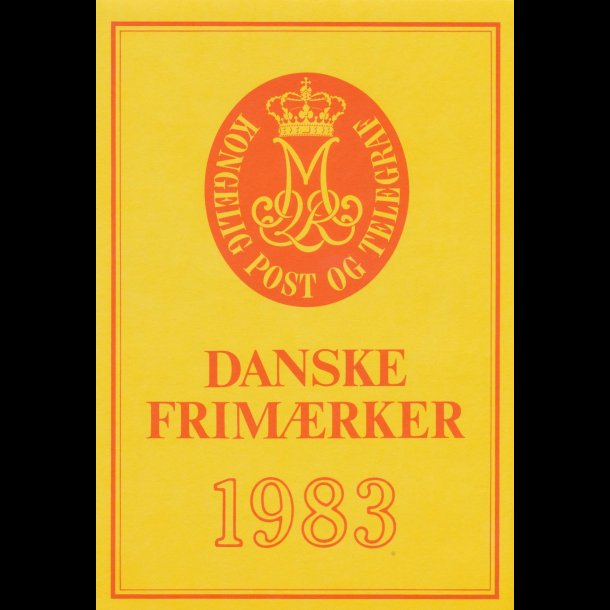 1983, årsmappe, postpris 77,80 kr