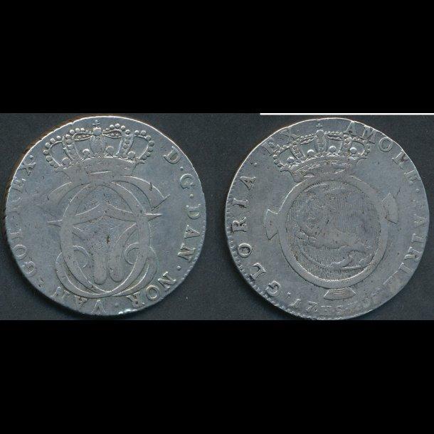 1768, Christian VII, 1 speciedaler, 1+, H6