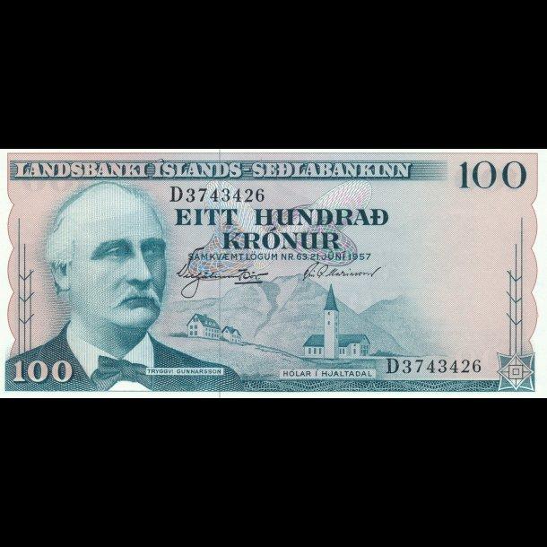 Island, 100 kronur, (1960),1608