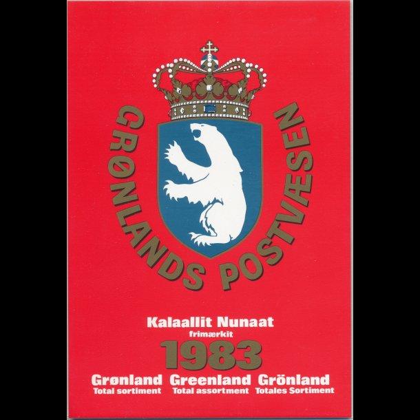 1983, Grønland, årsmappe, postpris 68,80kr