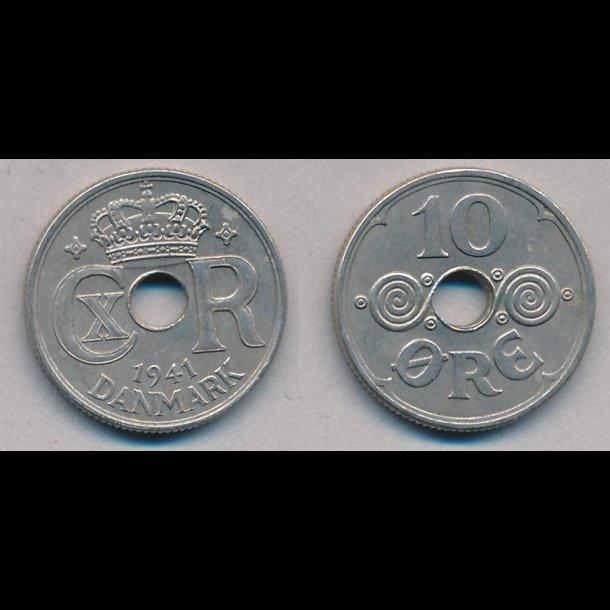 1941, Færøerne 10 øre, 1+