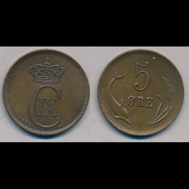 1875, 5 øre, 01