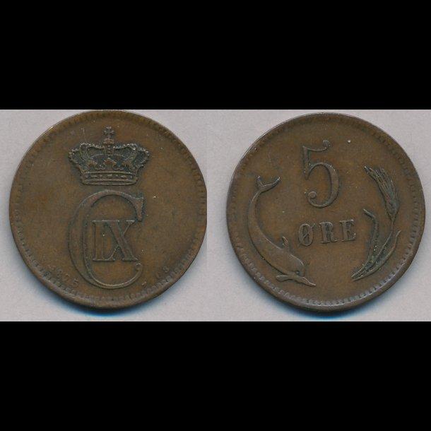 1875, 5 øre, 1+