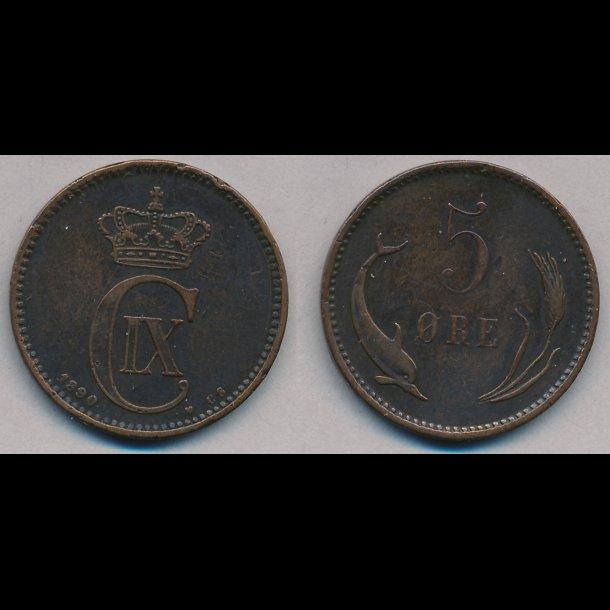 1890, 5 øre, 1