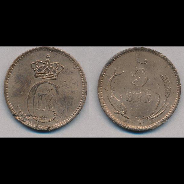 1890, 5 øre, 1,