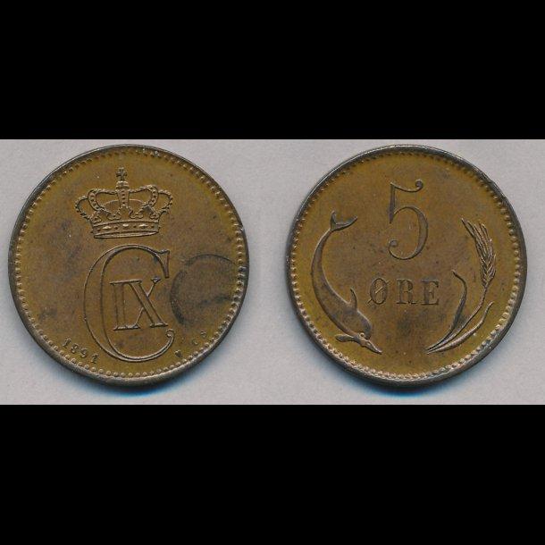 1891, 5 øre, 01