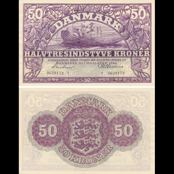 1944, 50 kroner, Danmark, 0/01