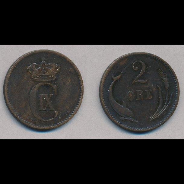 1887, 2 øre, 1