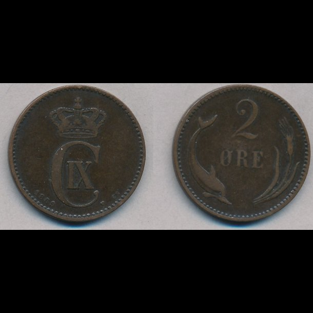 1889, 2 øre, 1