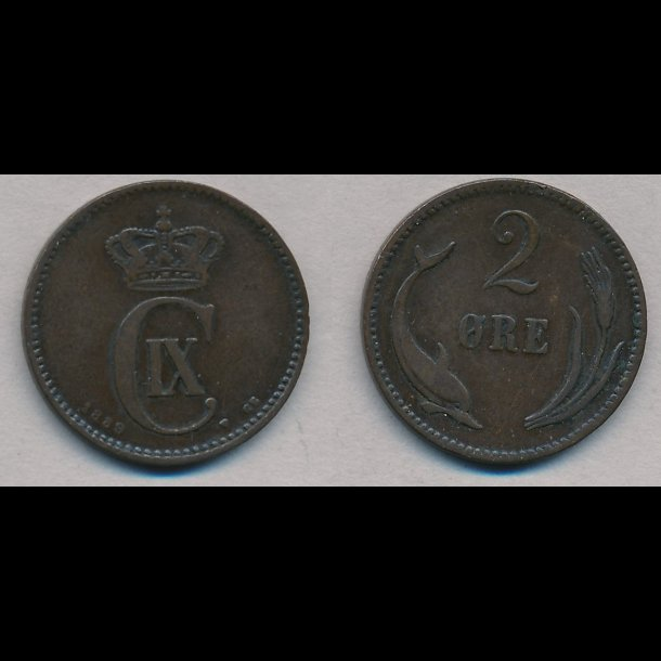 1889, 2 øre