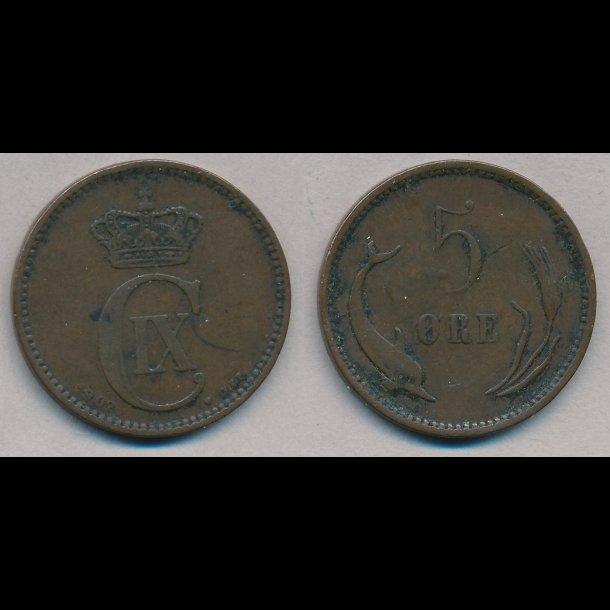 1902, 5 øre, 1 (+)
