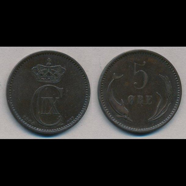 1906, 5 øre, 1 (+)