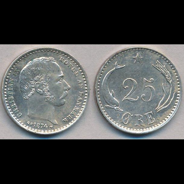 1874, 25 øre,