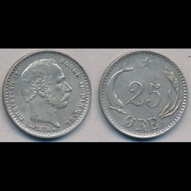 1874, 25 øre