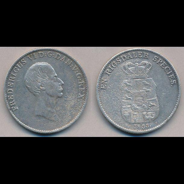 1833, FF, Frederik IV speciedaler, , 1-