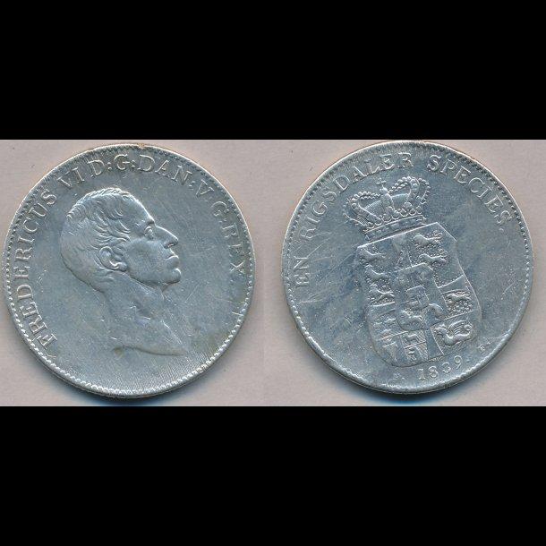 1839, FF, Frederik VI, 1 speciedaler, 1-
