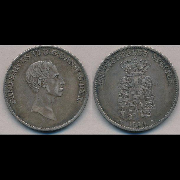 1839, WS, Frederik VI, speciedaler, 1+