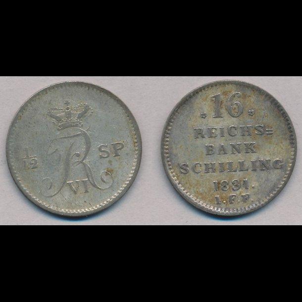 1831, Frederik VI, 16 rigsbank skilling, 1,