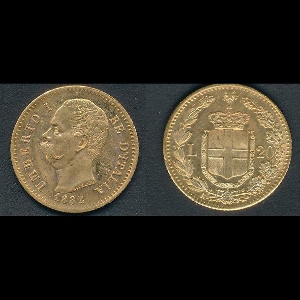 1887, Italien, 20 lire, 01