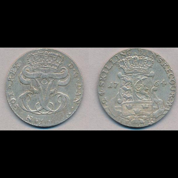1764, Frederik V, 24 skilling, 1++