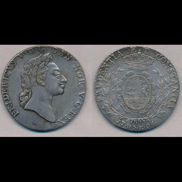 1764, Frederik V, specie, 0/10, H27A, S1