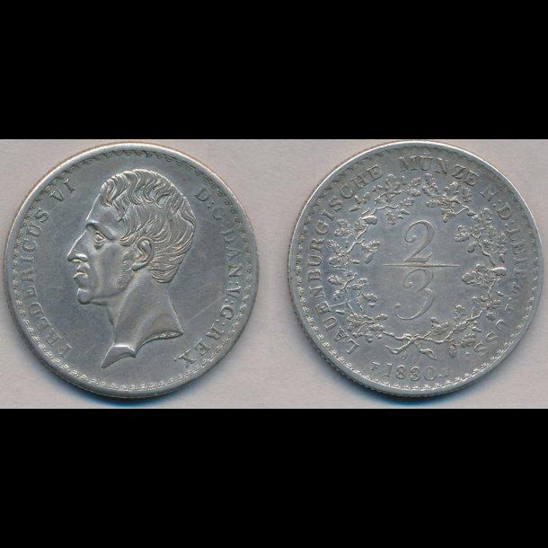 1830, Frederik  VI, 2/3 Lauenburg, 1++, H1