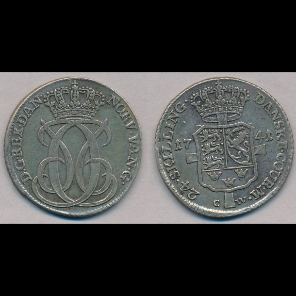 1741, Christian VI, 24 skilling, 1++