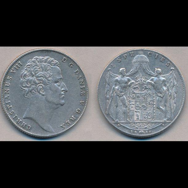 1840, FF, Christian VIII, 1 species, 1+, H3B,