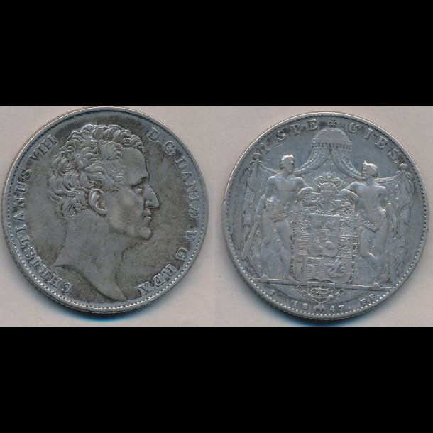 1847, FF, Christian VIII, 1 species, 1 (+), H3C,