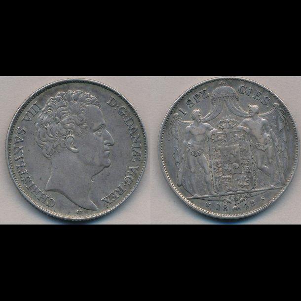 1848, VS, Christian VIII, 1 species, H3F,