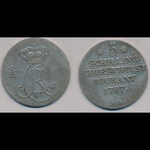 1787, Christian VII, 1/12 specie, 1 (+), H43