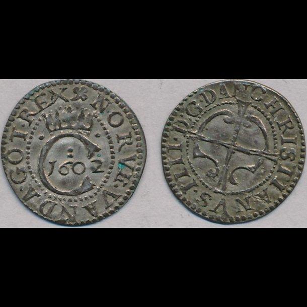 1602, Christian IV, 1 hvid, 01, H86