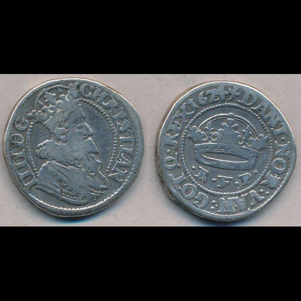 1624, Christian IV, ½ krone, H128