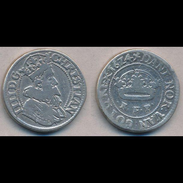 1624, Christian IV, ½ krone, 1, H128